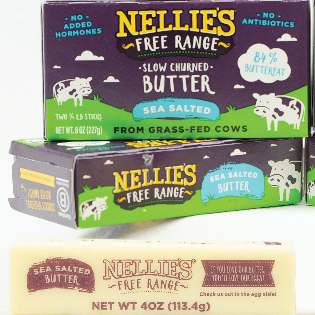 Nellie's Free Range Sea Salted Butter - 8 oz