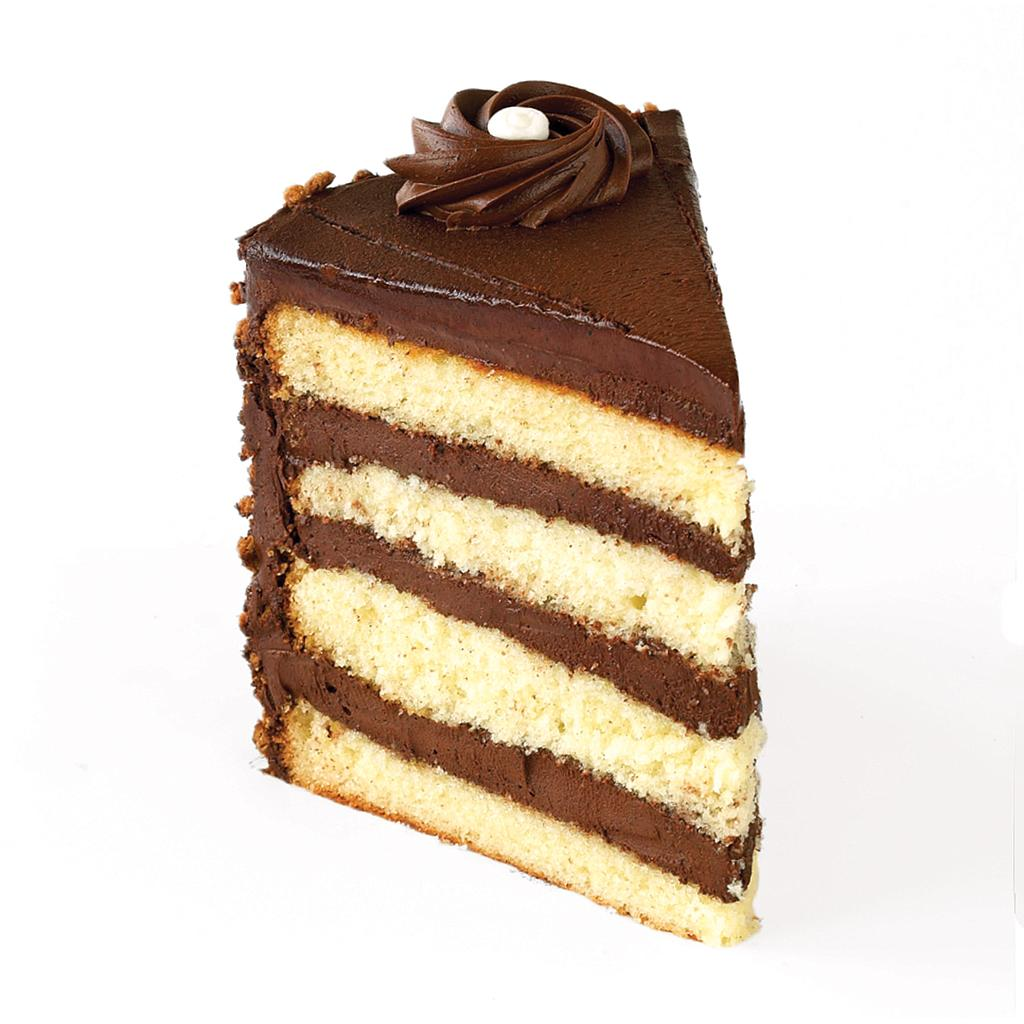 Tall Golden Fudge Cake