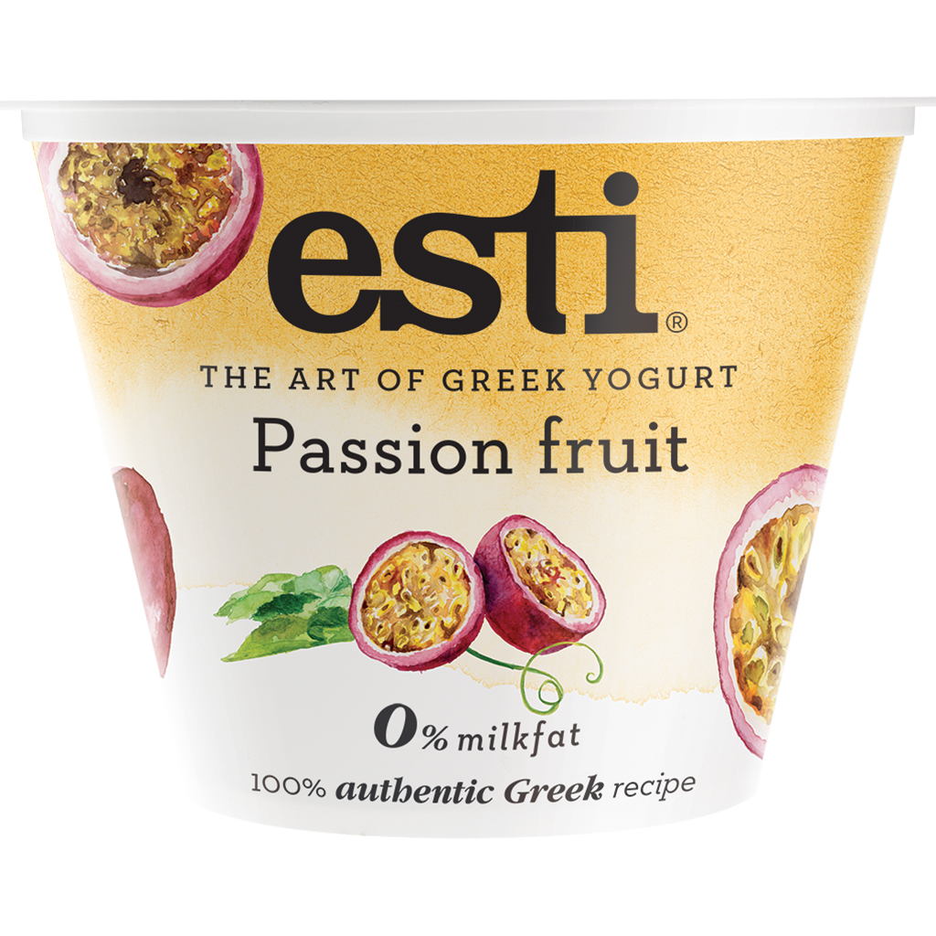 Greek Yogurt Passion Fruit 0% 5.3 oz Blended